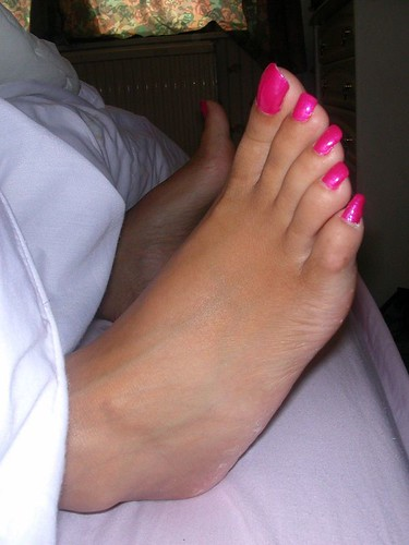 Long ebony feet