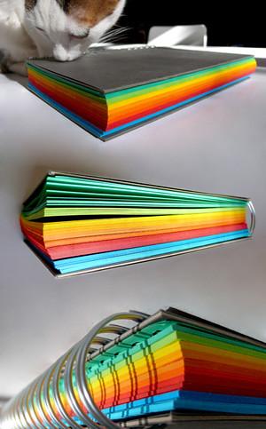 cuaderno de colores