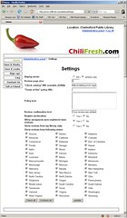 Chili Fresh Admin Settings