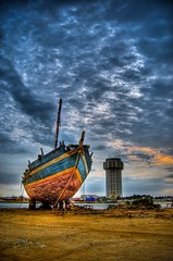 I QUIT.. - HDR (Ageel) Tags: blue sea sky tower clouds d50 photography boat nikon cost jeddah hdr     jiddah   abigfave   ageel  goldstaraward