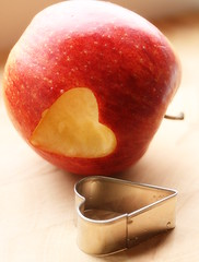 happy Valentine's Day ;-) (C.Mariani) Tags: winter love apple fruit bravo heart sweet valentine february shape cookiecutter mycreation mywinners anawesomeshot