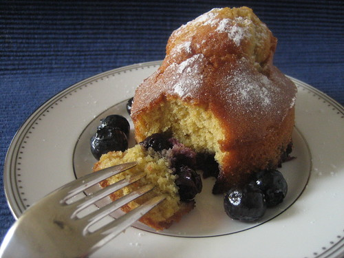 Warm blueberry pudding (3)