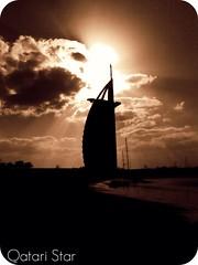 Burj Al Arab (qatari star) Tags: sea sun tower clouds star dubai gulf arab  2008 soe burj      qatari  goldstaraward