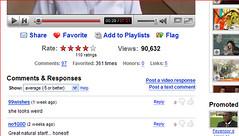 Veel feedback-mogelijkheden bij videosite YouTube