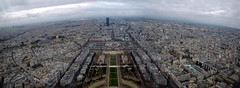 Panorama from the Eiffel Tower