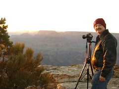 Preparing to Take the Lipan Point Sunset Pano (dsphotoscapes@aol.com) Tags: travel sunset arizona usa art landscape landscapes nationalpark colorado grandcanyon canyon coloradoriver nationalparks marblecanyon giclee lipanpoint gicle davidsanderson arizonalandcapes dsphotoscapes