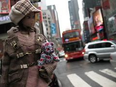 Momoko in NYC (ava111sk/Dollypimp) Tags: street nyc newyorkcity boy people bus love car japan want busy jacket timessquare be traveling fashiondoll sekiguchi momoko i nicelady007