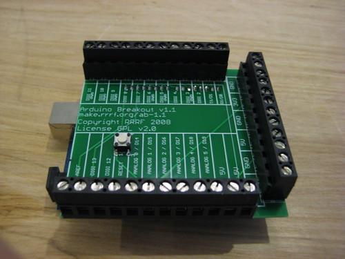Adding Custom Boards To The Arduino V1: RepRap: Blog: New Board: Arduino Breakout V1.1