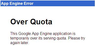 Google AppEngine Over Quota Error