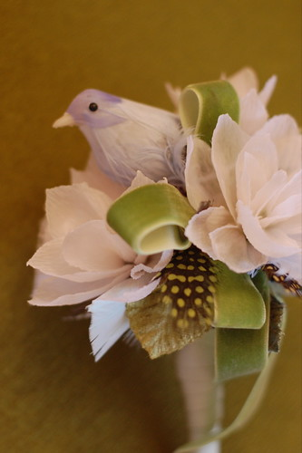 bouquet with bird
