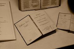 books (Leo Reynolds) Tags: museum sepia photoshop canon eos duotone iso1600 f67 44mm 0ev 40d hpexif 0011sec leol30random groupyourbooks gressenhallfarmworkhouse xratio32x groupsepiabw groupsepialovers xleol30x