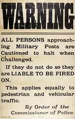 Stark Warning (National Library of Ireland) Tags: traffic ephemera posters pedestrians 1920 nationallibraryofireland irishwarofindependence commissionerofpolice militaryposts ephemeracollection