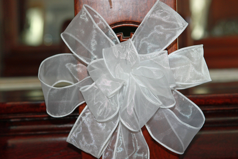 White Wedding Bows set of 12