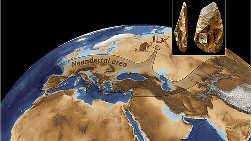 Distribución de los Neandertales en Europa