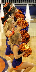 Gator Cheerleaders (dbadair) Tags: crimson basketball florida tide gators sec uf odome 2014