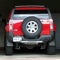 H3 2180 (Jobe Roco) Tags: auto red truck square automobile h3 lafayette tag plate licenseplate suv hummer personalized 2007 2180 spa4u