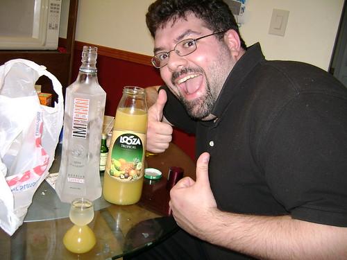 Gir likes his booze!