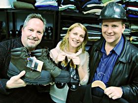 Working Gear board members (from left) Stephen Flynn, Jane Sanders and Paul Zelinski.