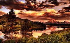 A Storm at Oxbow (Jeff Clow) Tags: storm nature searchthebest wyoming jpeg grandtetonnationalpark oxbowbend supershot tonemapped pseudohdr 1exp impressedbeauty jeffrclow