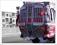 W-21 (itsillusion[i'm alive!]) Tags: bridge bus fly nikon over mini karachi
