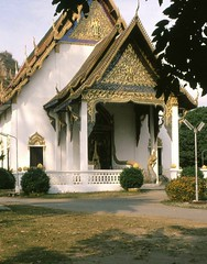 Thailand .Chang Mai Temple (88) (pjwar) Tags: thailand 1982 religion buddhism changmai theravadabuddhism pjwar