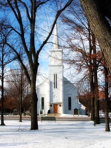 congregational church in winter copy