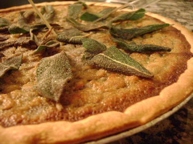 Chris Wass' purple sweet potato and sage pie