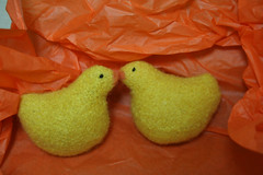 Felted Chicks 122607