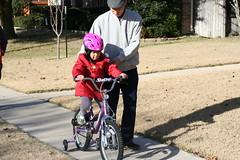 xmas gift 自行车 (后来被妈妈还给santa了:p)