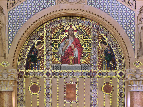 Saints Teresa and Bridget Roman Catholic Church, in Saint Louis, Missouri, USA - altar mosaic