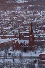 A07460 (davidnaylor83) Tags: snow church dawn sweden steeple sverige sn kyrka sundsvall gryning kyrktorn norraberget gustavadolfskyrka gustavadolfchurch