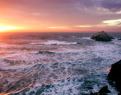 Seal Rock Sunset at Ocean Beach San Francisco (chet3) Tags: ocean sanfrancisco sunset rock san francisco seal oceanbeach cliffhouse sealrock potofgold naturesfinest