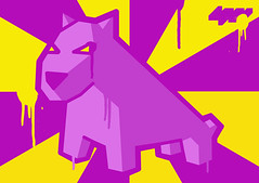 Purple & Yellow... (LukeDaDuke) Tags: yellow design sticker purple stickers drip adobe sw illustrator drips adhesivo autocollant adobeillustrator etiqueta cs3 foob paintdrip  lukedaduke paintdrips stickerwar stickerdesign  autoadesivo