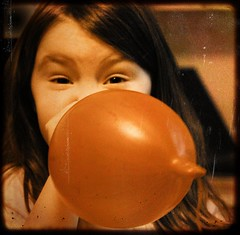 inflate (lesbru) Tags: portrait balloon blow inflate vintagetreatment d40x