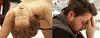 tempi moderni (Sara Fasullo) Tags: man composition diptych sad arte thomas bodylanguage exposition bologna morto tristezza fiera scultura stanchezza occhichiusi
