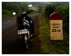 Sekong, im coming #1 (MickRheault!) Tags: trip coffee rain sign ride plateau south motorbike jungle plantation laos bolaven paksong sekong boloven
