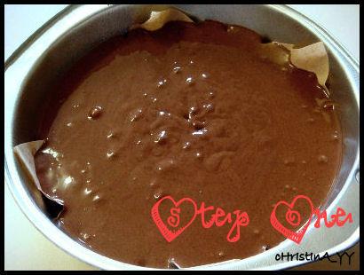 Triple Choco Cake - Step 1