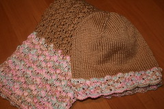 Brown Hat and Scarf