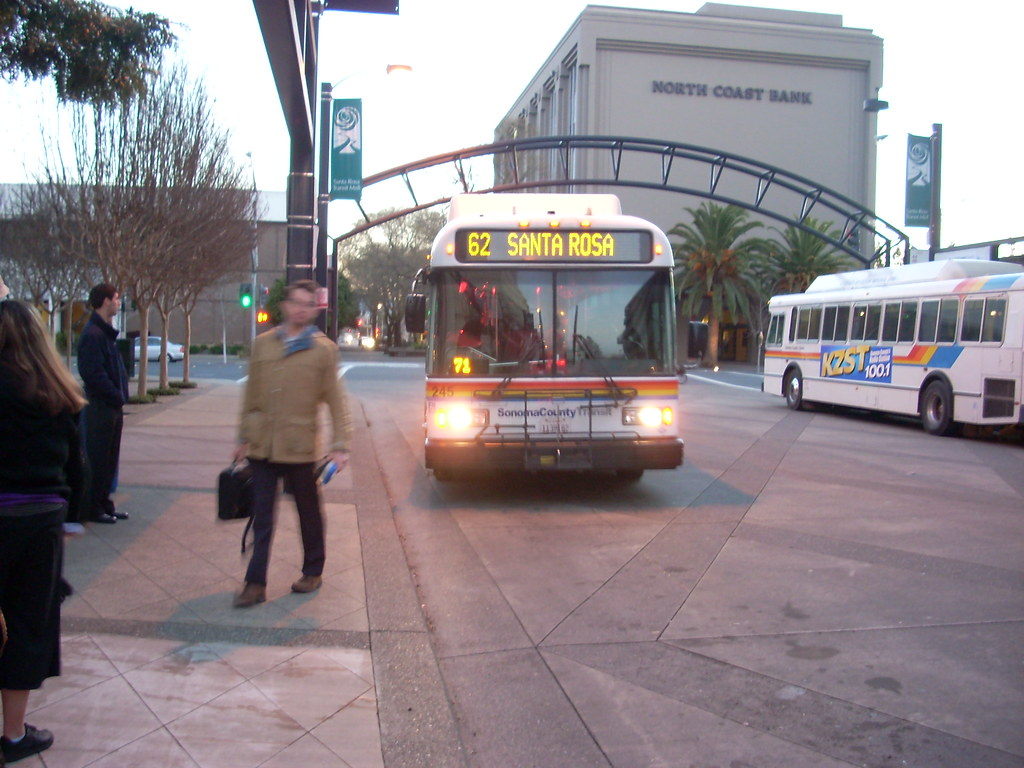 Sonoma County Transit at Santa Rosa Transit Mall