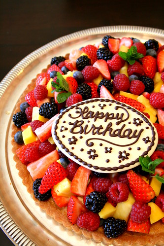 Fruit tart for birthday 011