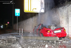 Schwerer Verkehrsunfall Mainzer Straße 20.02.08