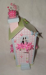 Tilda's altered house (front) (yifatiii) Tags: altered scrapbook scrapbooking paper dragonflies dragonfly sewing sew pins clay prima homestyle tilda alter cushion bazzill doodlebug polymer cardstock tildas tonefinnanger sewprettyhomestyle