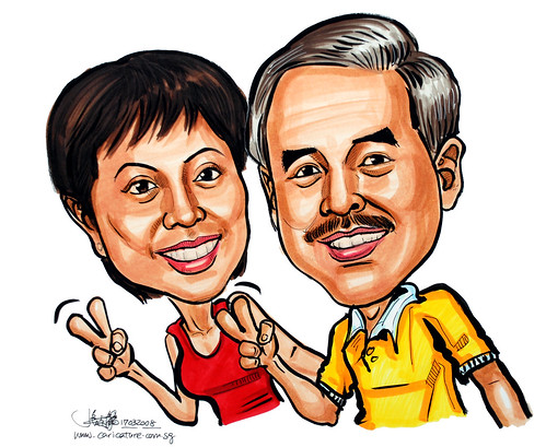 Caricature couple 170308