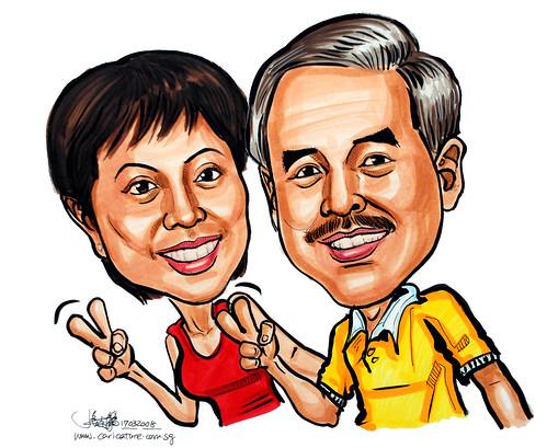 Caricature couple 170308