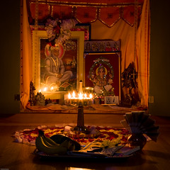 Vishu 2008 (Kris Kumar) Tags: usa ny home festival lowlight noflash rochester april rosepetals 2008 flowerarrangement vishu pittsford malayalee vishukkani canon50mm pookalam pookkalam keralite vishukani canon40d