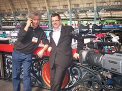Infosec 2008 - me and our cameraman Trevor