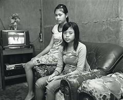 Ani & Eni (samsul Iwa) Tags: portrait people bw indonesia mamiya7 presto400 banten