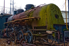 BX890 Rusting Steam Locomotive (listentoreason) Tags: usa america train canon rust technology unitedstates pennsylvania decay places steam transportation locomotive newhope corrosion steamlocomotive rollingstock ef28135mmf3556isusm score25