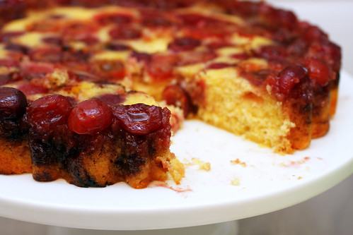 cherry cornmeal upside-down cake | smitten kitchen