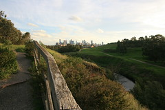 Melbourne city view from Capital City Trail